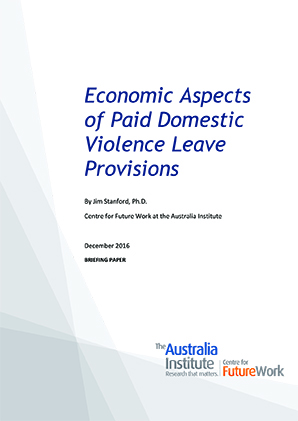 Economic Aspects of Paid Domestic Leave Provisions report